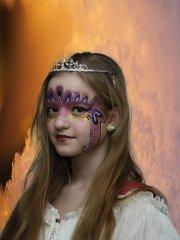 Beliebtes Motiv beim Kinderschminken: Prinzessin