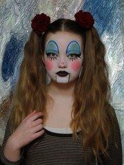 Clown, blau-weiß, klassisch