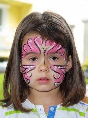 Rosa Schmetterling für Kinder