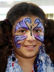 Lila Schmetterling für Kinder